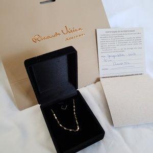 18k gold Ricardo vieira delicate necklace